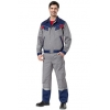 Костюм Меркурий куртка+полукомбинезон темно-синий с серым